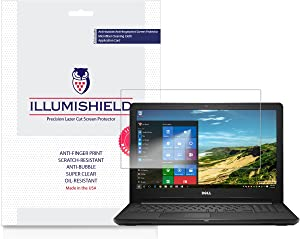 iLLumiShield Screen Protector Compatible with Dell Inspiron 15 3000 Series (2017)(2-Pack) Clear HD Shield Anti-Bubble and Anti-Fingerprint PET Film