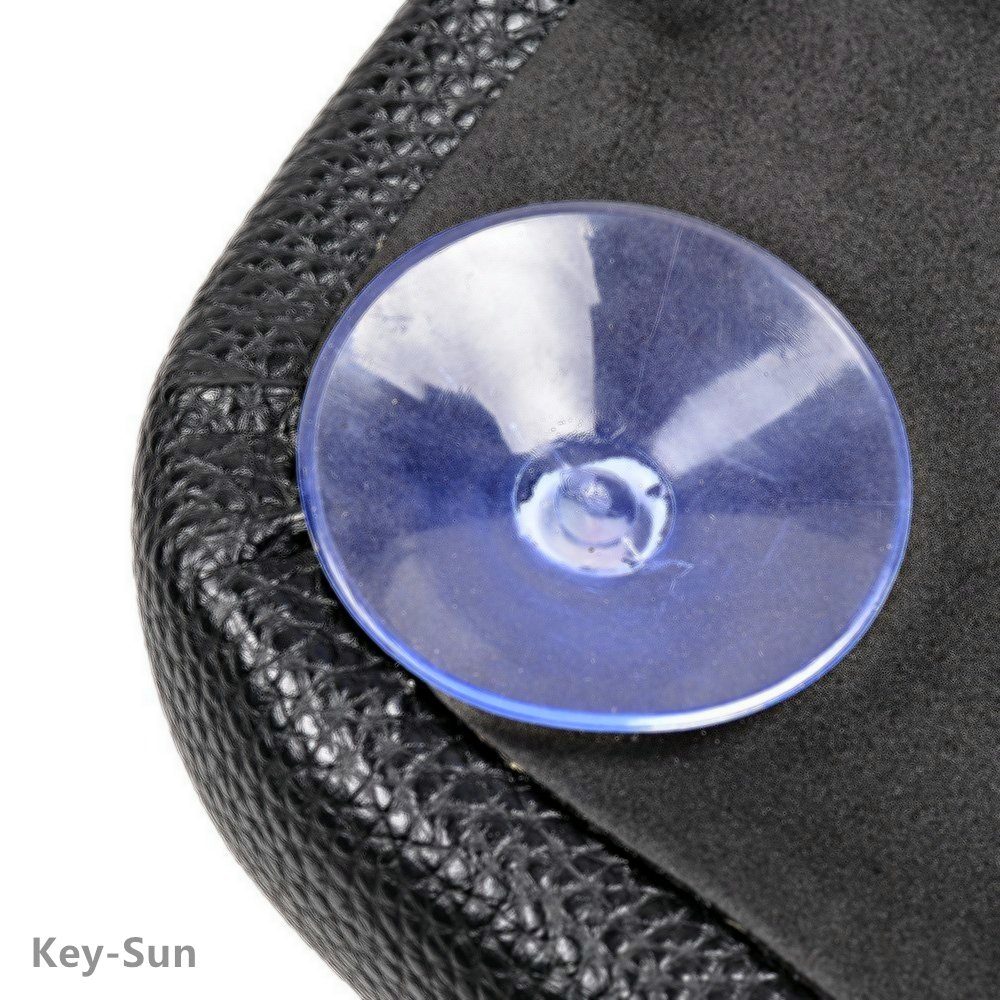Black Pillion Pad Seat 8 Suction Cup Solo Rear Seat Passenger Saddle For Harley Dyna Sportster Softail Touring XL883 1200 48 (8) by Sunkey (Image #6)
