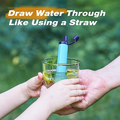 ABS Water Filter Straw Purification Emergency Portable Sucker Plastic Outdoor