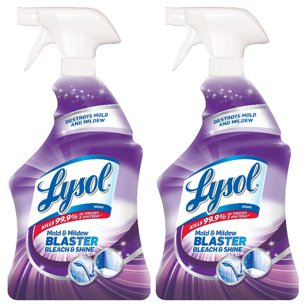Lysol Mold & Mildew Blaster w. Bleach, Bathroom Cleaner Spray, 32oz (Pack of 2) by Lysol