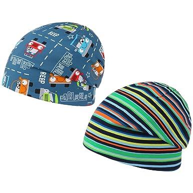 Bonnet Reversible Jersey Car maximo bonnet pour enfant long beanie (55 cm -  bleu) 9b0c8a54009