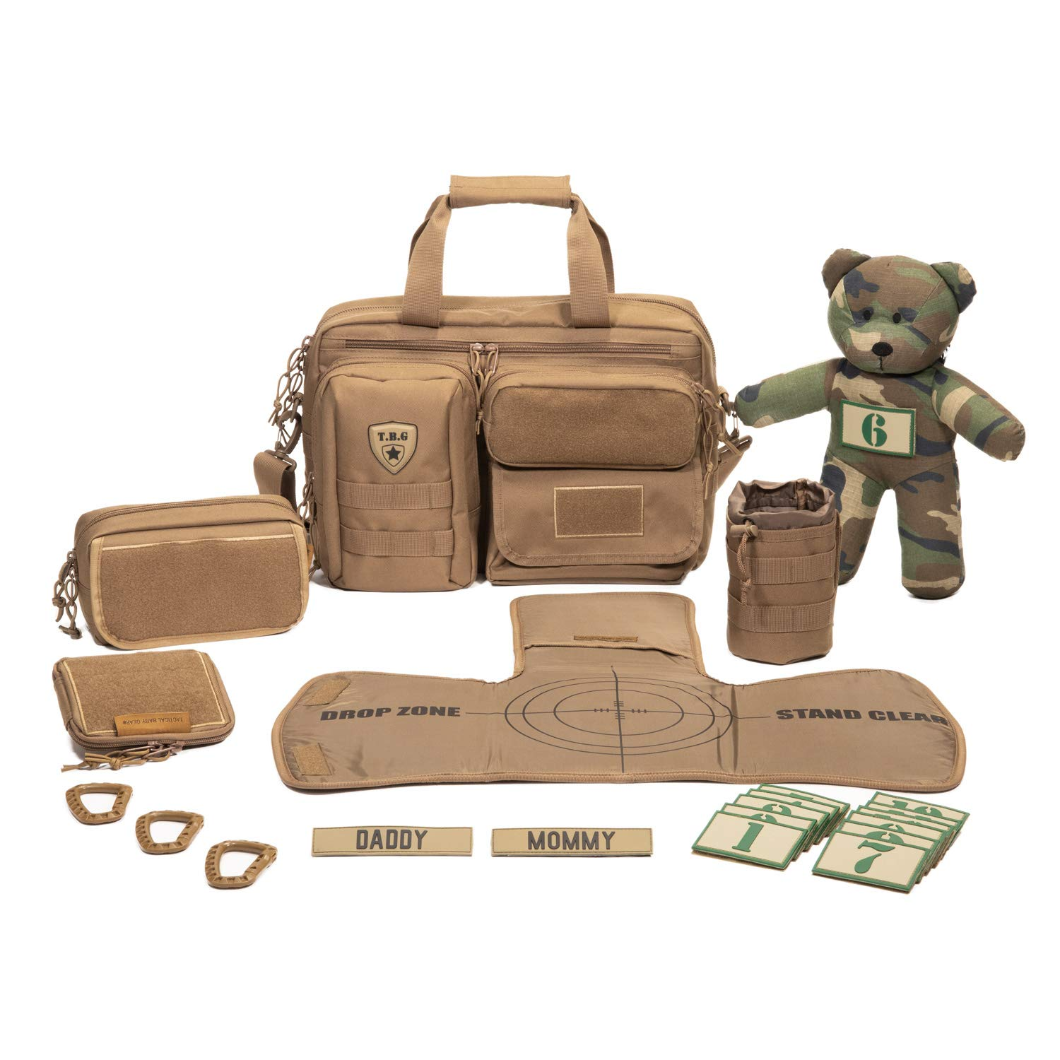 85134ef9c4e Amazon.com   Tactical Baby Gear Full Load Out 2.0 Tactical Diaper Bag Set (Coyote  Brown)   Baby