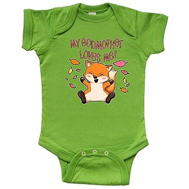 0ed003099 inktastic - My Godmother Loves Me!- Infant Creeper Newborn Apple Green 31ad7