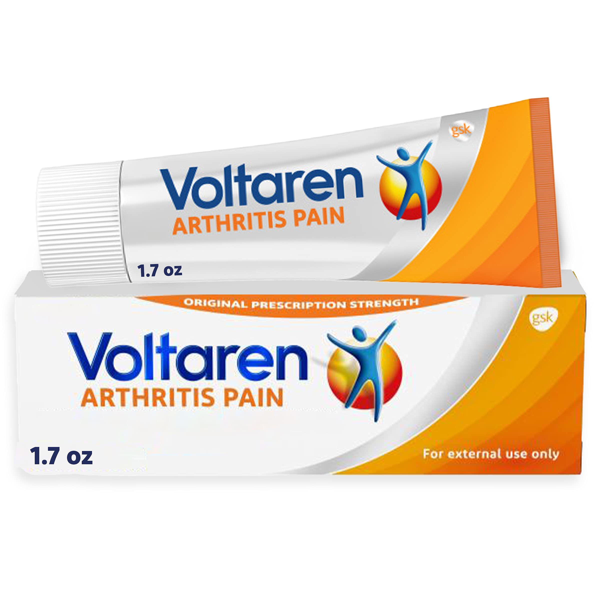 Voltaren Arthritis Pain Gel for Topical Arthritis Pain Relief, #1 Doctor Recommended Topical Pain Relief Brand, No Prescription Needed - 1.7 oz/50 g Tube
