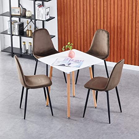 White Dining Table Set Of 4 Chairs For Kitchen Restaurant Small Spaces 5 Pieces Dining Room