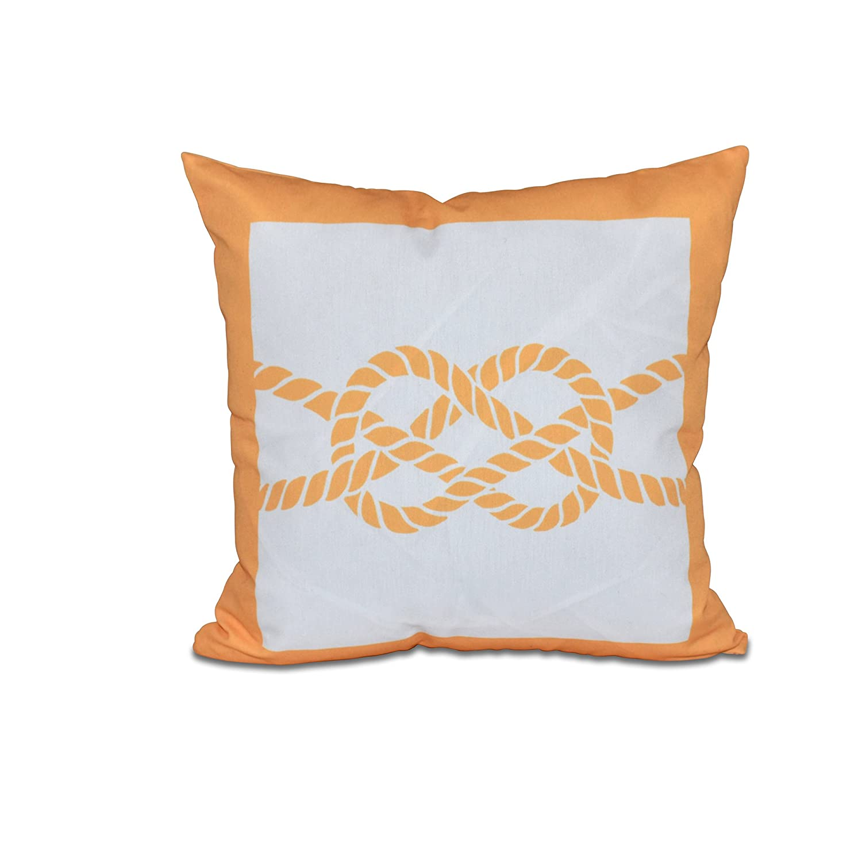 Geometric Pillow Yellow E by design PGN407YE8-18 18 x 18 Nautical Knot