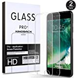 (2 Pack) iPhone 8 Plus/7 Plus Screen Protector, KINGBACK [ Bubble-Free ][ Anti-Scratch ] [ 3D Touch Compatible ] Premium Tempered Glass Screen Protector for iPhone 7 Plus 8 Plus 5.5 INCH