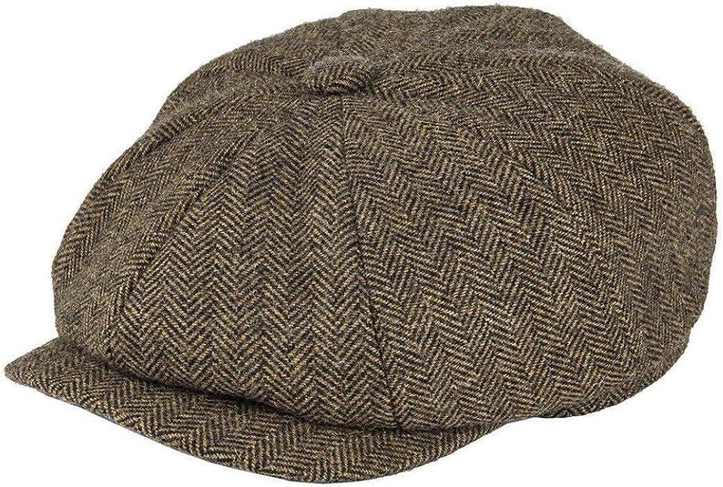 Unisex Wool Tweed Newsboy...