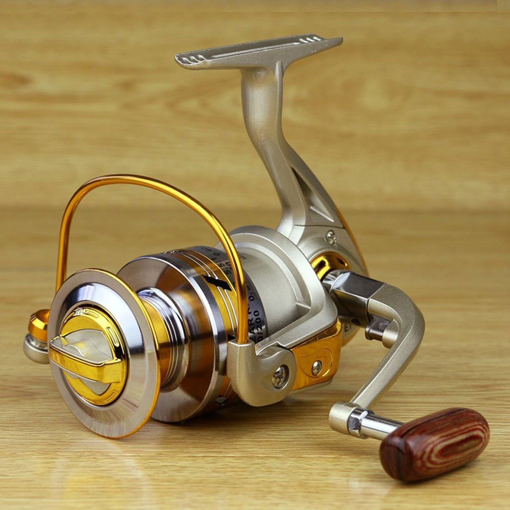 Yomores EF 1000 Series Gold Fishing Spinning Reel 12 BB Whole Metal Line Cup IOB
