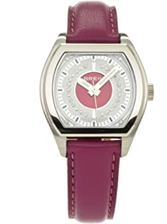 Breil Womens Watch Analogue Quartz TW0565 Purple Leather Strap Purple Dial