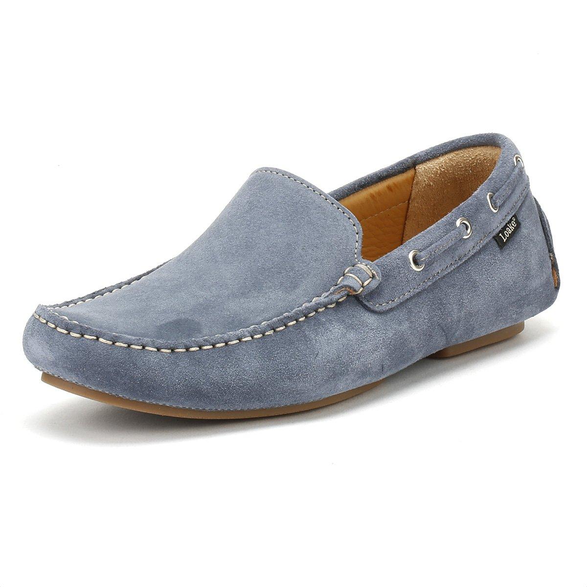 Loake Hombres donington Ante Zapatos de Conducción Azul Claro 41 EU|Light Azul