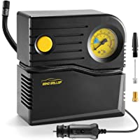 $21 » WindGallop Small Portable Air Compressor Tire Inflator with Pressure Gauge Car Tire Pump 12V…