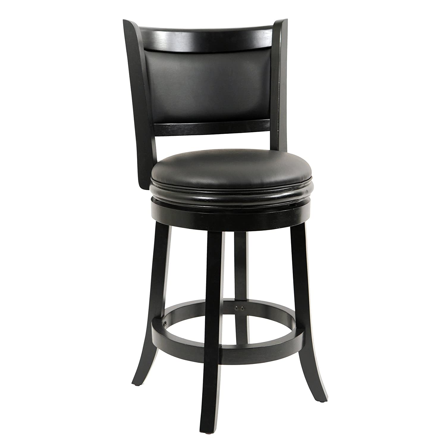Amazon.com: Boraam 45824 Augusta Counter Height Swivel Stool, 24 Inch, Black:  Kitchen U0026 Dining