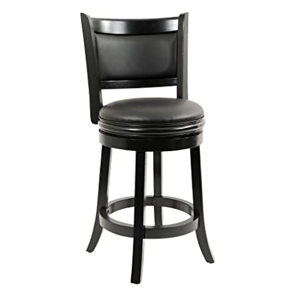 Boraam Augusta Counter Height Swivel Stool, 24-Inch, Black