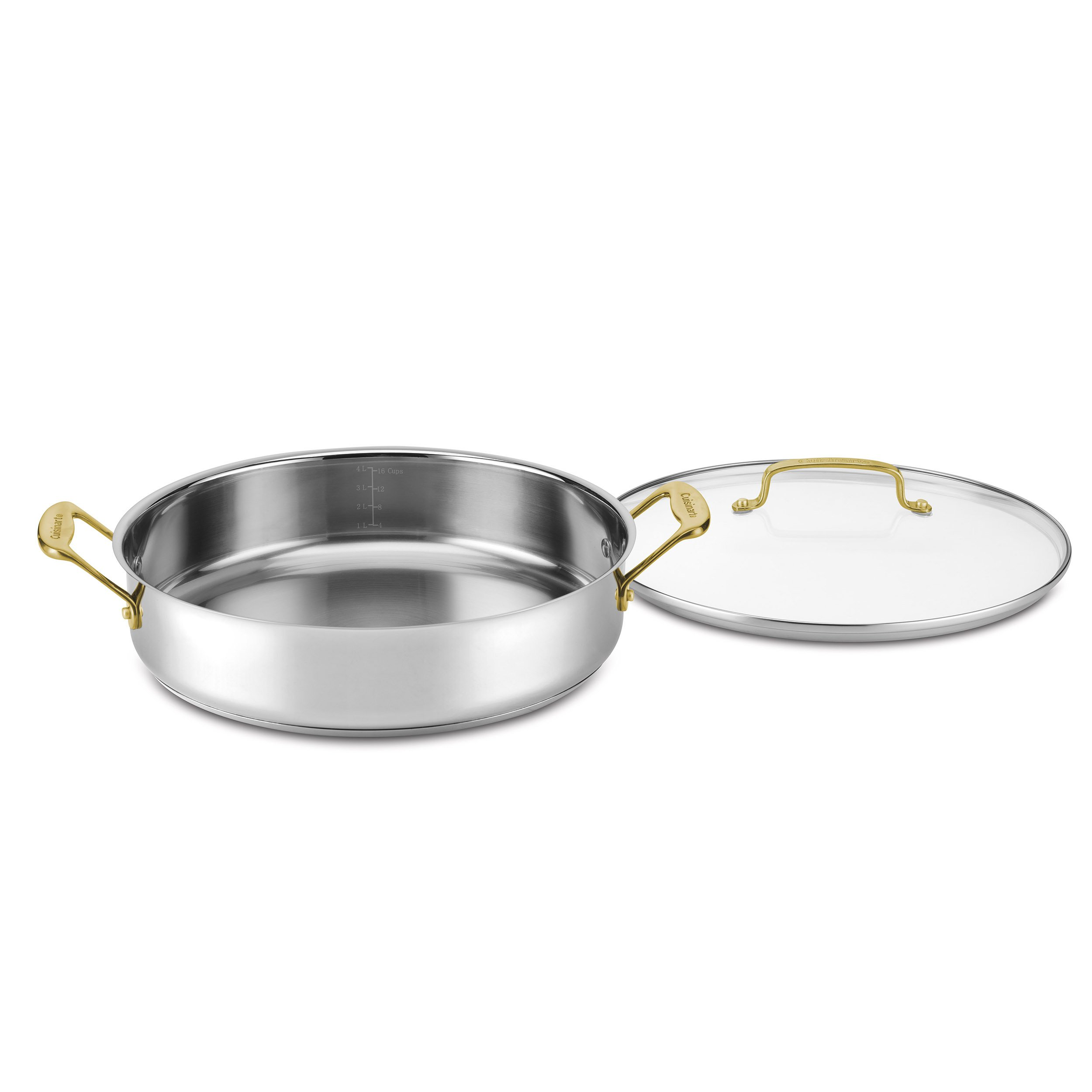 Cuisinart C7M55-30GD Mineral Collection Casserole with Cover, Medium, Stainless Steel