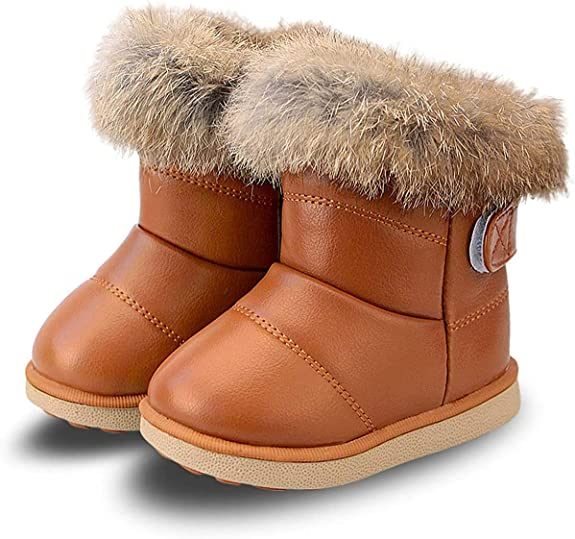 Gaatpot Stivali da Neve Ragazzi Ragazze Scarpe Stivaletti Invernali con Imbottitura Calda Unisex Bambini 20-35