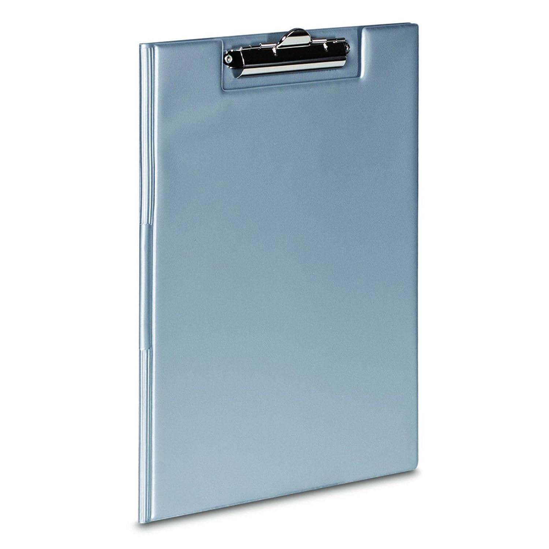 ottimo per scrivere//annotare a mano Porta blocco A4/in PVC con molla da ufficio in tinta unita Grey