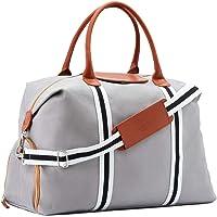 Saint Maniero ® Design Reisetasche mit extra Schuhfach – veränderbares Volumen von XL auf Handgepäck – wasserabweisendes Material – perfekte Ordnung durch mehrere Außen- und Innentaschen