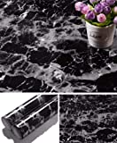"""Yancorp Black Granite Wallpaper Marble Counter Top Film Vinyl Self Adhesive Peel-Stick Wallpaper (17.8""""x78.7"""")"""
