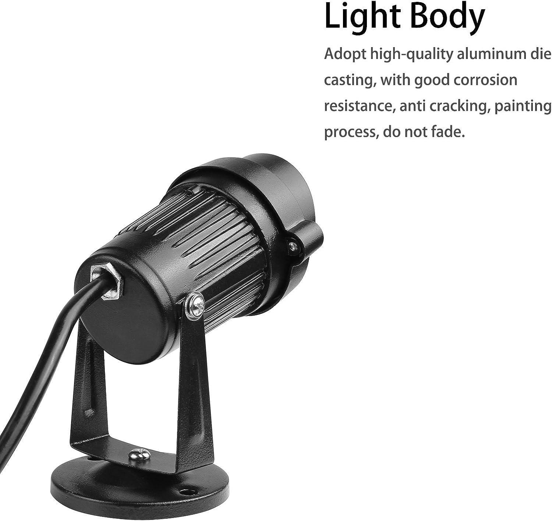 Warm White Lemonbest LED Landscape Up Down Light 5W White LED Decorative Spotlight Lamp 110V with Plug for Indoor Outdoor Yard Step Wall Lighting