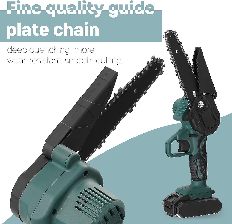 KKmoon 21V Mini Scie d/élagage /électrique Portable Rechargeable Petite Scie /à Cha/îne de Fendage du Bois Outil de Travail du Bois /à une Main pour Pince de Branche de Verger de Jardin