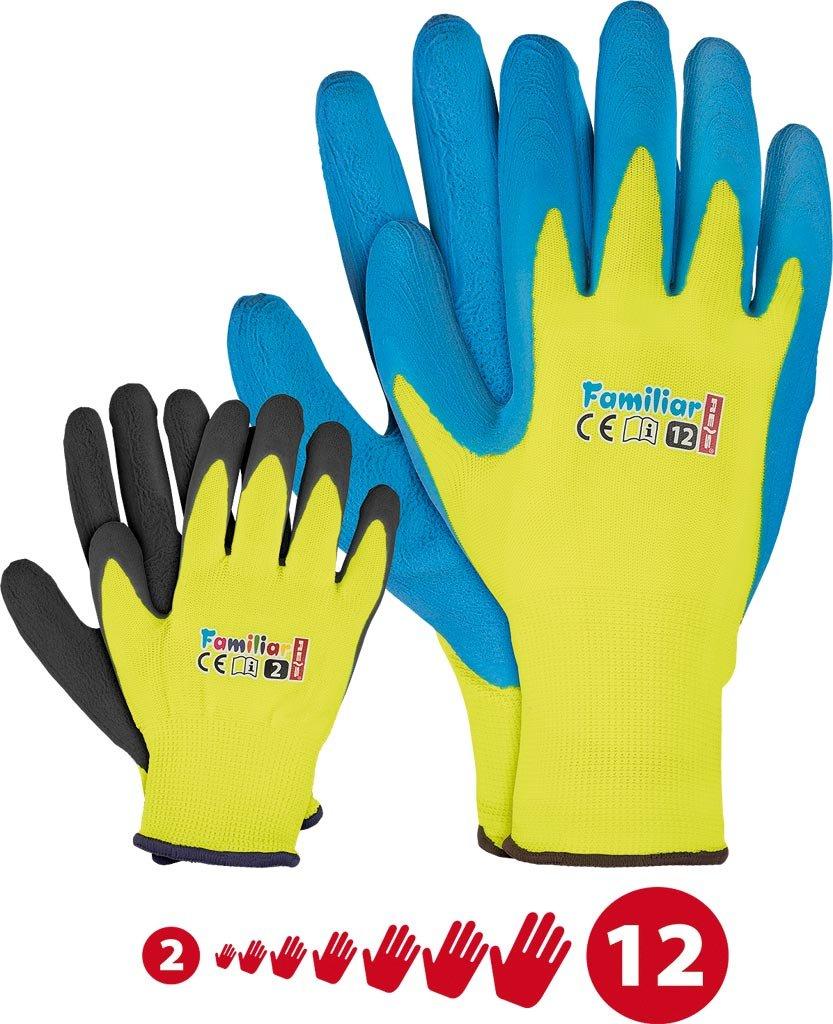 Kinder Arbeitshandschuhe Latex Schutzhandschuhe Gartenhandschuhe Handschuhe Kinderhandschuhe orange Gr. 2-6 6 (1, 4) FUZZIO