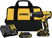 DEWALT DCD777C2R 20V MAX Cordless Lithium-Ion Compact Brushless Drill Driver Kit (Renewed)