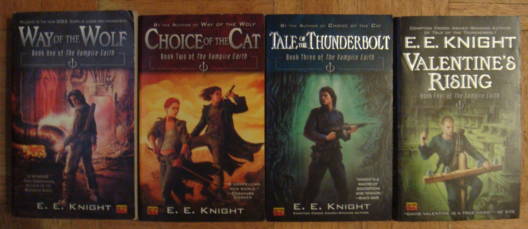 The Vampire Earth Series, Books 1-4, Book 1: Way of the Wolf, Book 2: Choice of the Cat, Book 3: Tale of the Thunderbolt, Book 4: Valentine's Rising (The Vampire Earth) pdf epub