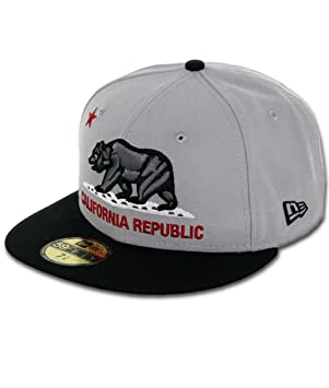 7d2ade4d3be New Era California Republic 9 forme ajustée Gris Graphite noir Men s 59Fifty  Casquette