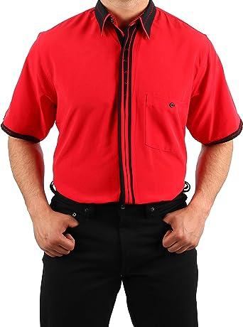 Camisa de Microfibra en Rojo, Almendra HK, Camisa de diseño ...