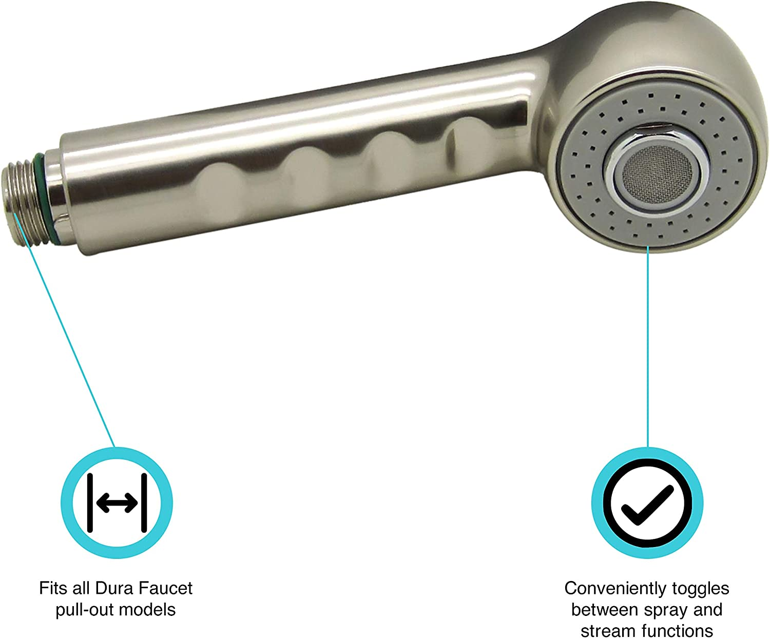 dura faucet df rk800 sn rv kitchen faucet pull out sprayer replacement brushed satin nickel