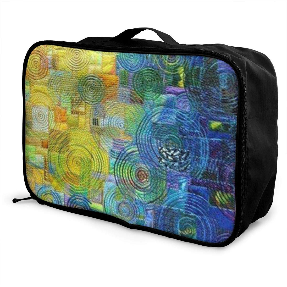 Portable Luggage Duffel Bag Colorful Spider Web Travel Bags Carry-on In Trolley Handle