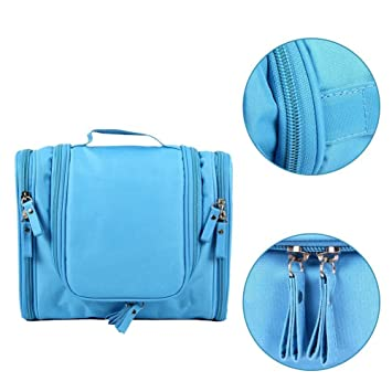 Travel Kit Organizer Bathroom Storage Cosmetic Bag Toiletry  Waterproof  Bag Blue. Amazon com   Travel Kit Organizer Bathroom Storage Cosmetic Bag