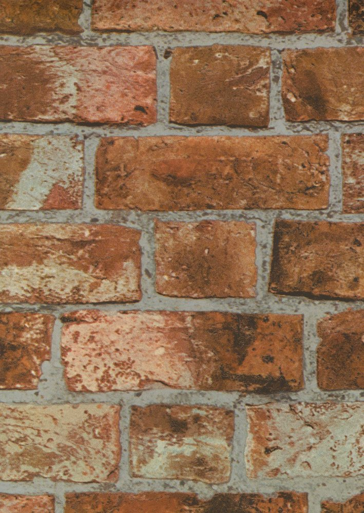 Orange Brewster FD31045 Ladrillo Wallpaper