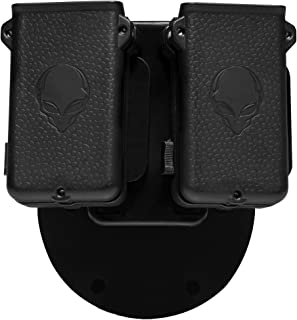 product image for Alien Gear Cloak Mag Carrier Double Magazine Holster fits 9mm, 40, 45, 10mm, 380, Carry as IWB Magazine Pouch or OWB mag Carrier