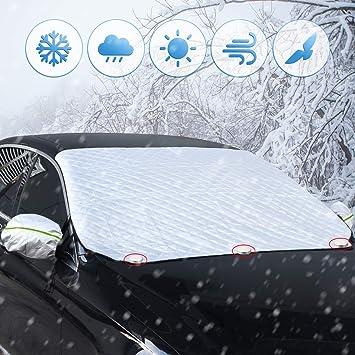 Amazon.es: Unitify Protector Parabrisas, Protector Nieve Coche Parabrisas Ventana Delantera de la Cubierta de Nieve de Hielo Protector Parasol Invierno ...