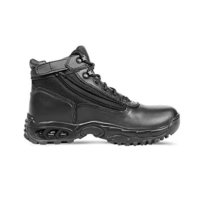 Ridge Footwear 8003 Men's Leather Air-Tac Mid Side Zipper Tactical Work Boots: Shoes