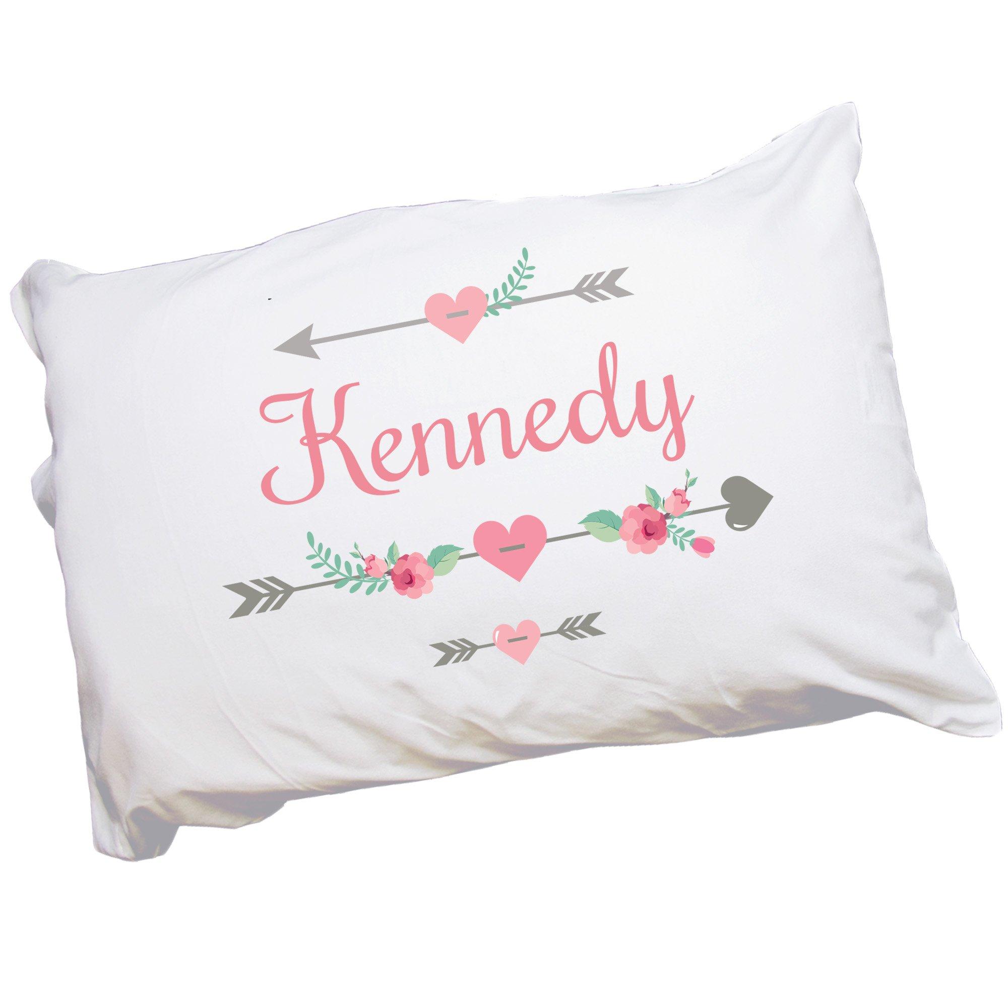 Girl's Personalized Tribal Arrow Pillowcase