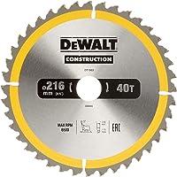 DeWalt Byggcirkelsågblad för stationära såg/cirkelsågblad (216/30 mm 40 WZ, universell användning och tvärsnitt) DT1953