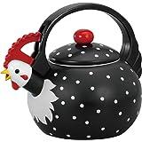 【並行輸入】Supreme Housewares Whistling Tea Kettle, Rooster やかん