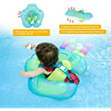 ?Upgrade?Baby Pool Float Swimming Ring, Baby Spring Floats with Safety Seat Double Airbag,High Quality Inflatable Swim Trainer for Newborn Babies Kids Toddler Bath, Age 3 Months-6 Years (S-XL)