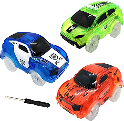 Toy Cars for Magic Tracks Glow in The Dark Tracks Cars Replacement only
