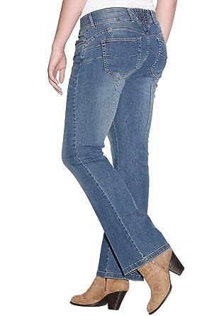 a0df39a33a9 Ellos Women s Plus Size Back Elastic Bootcut Jeans at Amazon Women s ...