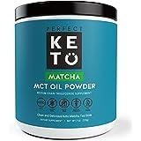 Perfect Keto Matcha Green Tea: Ketogenic Fat Butter Coffee Alternative w Coconut Oil MCT Best to Burn Fat for Fuel. Ketone Energy on Ketosis Diet Organic Ceremonial Grade Japanese Matcha Latte Powder
