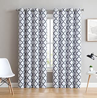Amazon.com: Navy Blue Curtains for Bedroom - Anady 2 Panel Blackout ...
