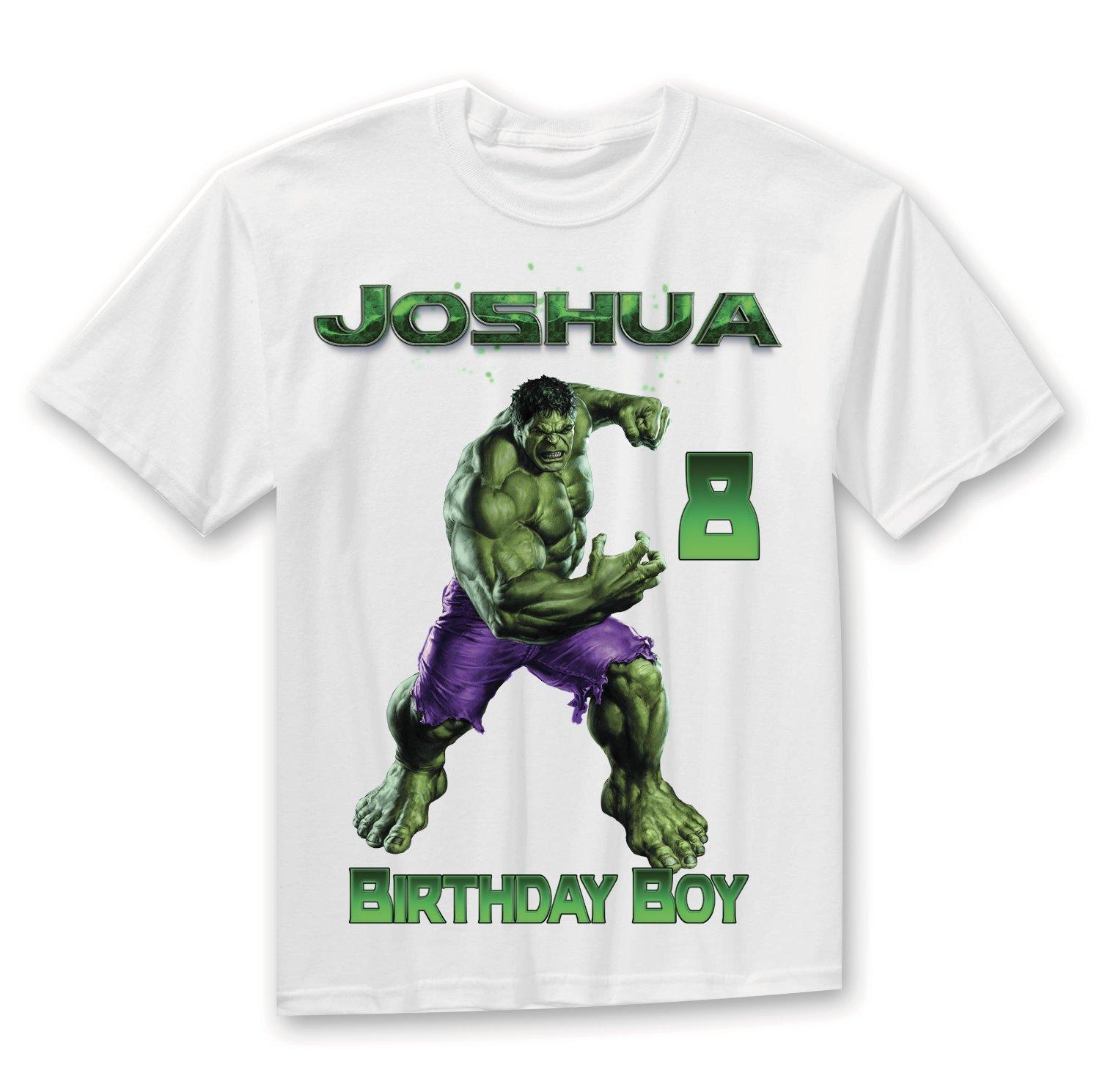 The Incredible Hulk Birthday Shirt, Hulk Birthday shirt