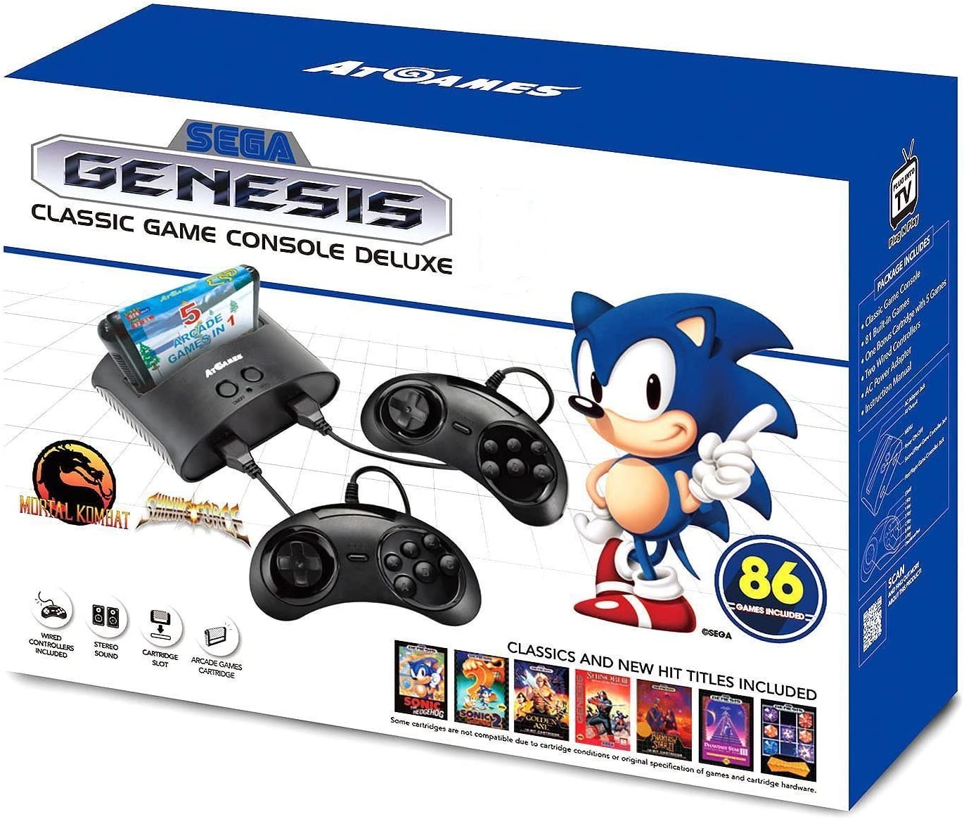 Amazoncom Sega Genesis Classic Game Console Deluxe Special Edition