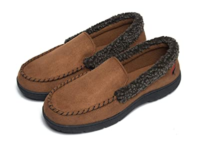 8b7778809c2 FootTech Mens House Slippers Memory Foam Loafers for Men Indoor Outdoor Slip  on House Shoes Winter