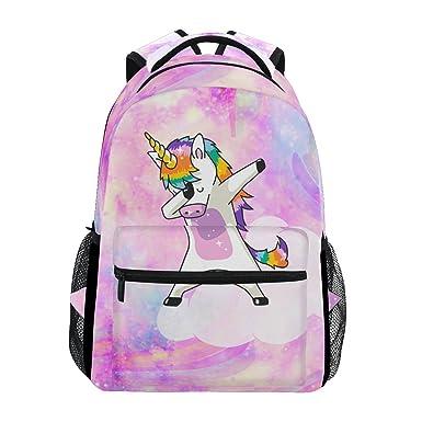 Amazoncom Jstel Rainbow Unicorn School Backpacks For Girls Kids