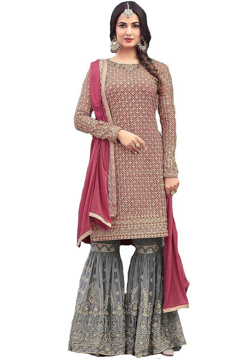 ziya Indian Wear & Ethnic Wear Long Straight Salwar Rose Pink Salwar Kameez 5501